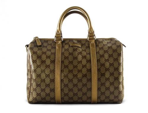 Gucci Crystal Joy Boston Medium Gold Buy Layaway Rent Borrow Luxury Pre Owned Authentic