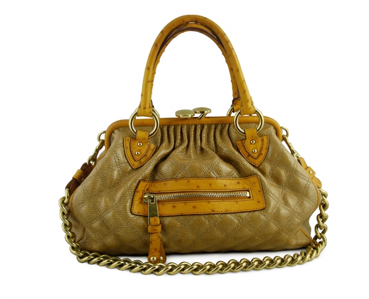 Marc Jacobs Stam Yellow Ostrich Limited Edition Buy Layaway Rent Borrow Luxury Pre Owned