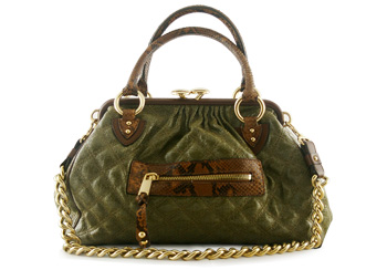 Marc Jacobs Stam Olive Python Limited Edition