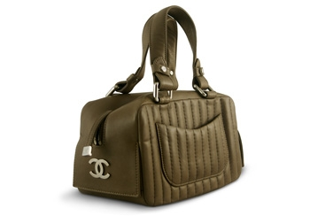 Chanel Mademoiselle <br> Bowler Taupe Mousse