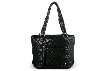 Chanel Lady Braid Shopper Black