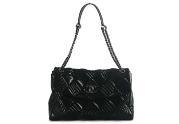 Chanel In & Out Flap Bag Black