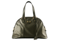Yves Saint Laurent Muse Large Pewter Silver