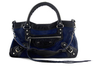 Balenciaga First City Navy Pony Hair Limited Edition