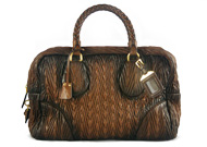 Prada Nut Lambskin Nappa Chevron Brown