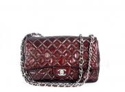 Chanel Large Classic Flap Patent Bordeaux