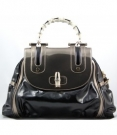 Gucci Large Vinyl Pop Bamboo Handbag