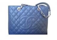 Chanel Grand Shopping Tote Caviar Blue