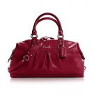 Coach Ashley Patent Leather Satchel Bordeaux