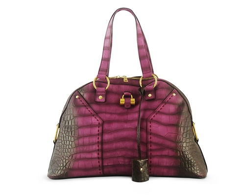Ysl Muse Large Magenta Croco Limited Edition Buy Layaway Rent Borrow Luxury Pre Owned