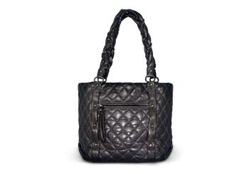 Chanel Lady Braid Shopper Gray