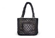 Chanel Lady Braid Shopper Gray