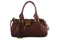 Chloe Paddington Satchel Burgundy Wine
