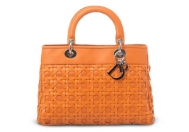 Christian Dior Lady Dior Avenue Woven Orange